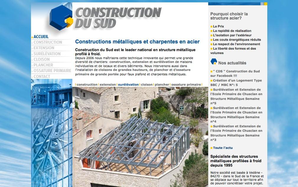 Construction du Sud  : construction métallique à Vedène dans le Vaucluse (84)