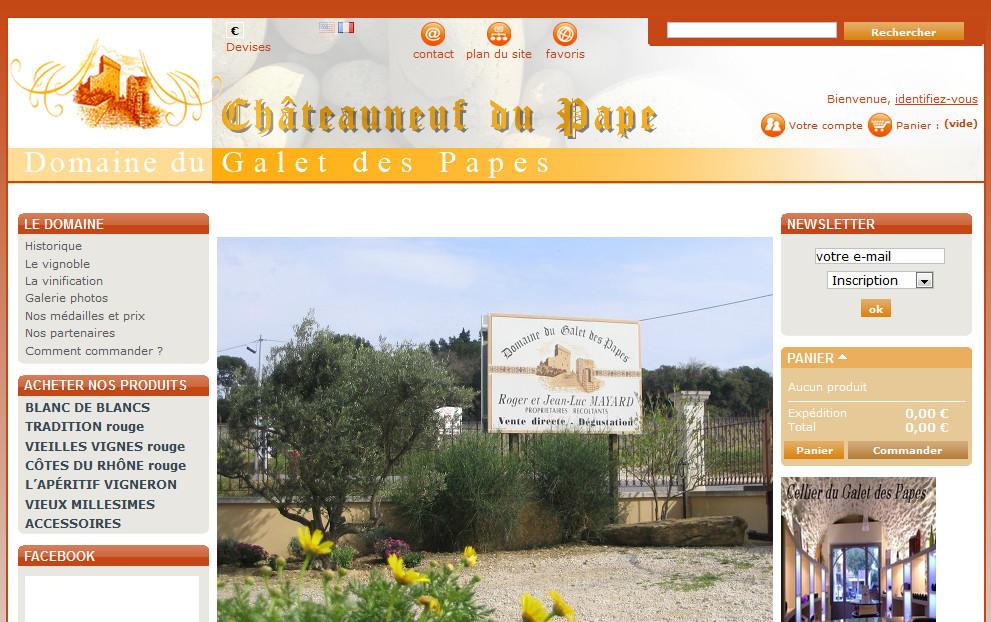 Domaine du Galet des Papes : domaine à Châteauneuf du Pape dans le Vaucluse (84)
