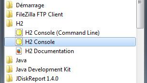 Exécution de H2 Console - webeweb.fr : une autre vision du web