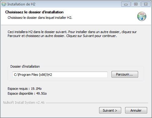 Installation de H2 Console (étape 1) - webeweb.fr : une autre vision du web