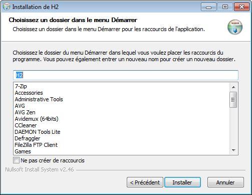 Installation de H2 Console (étape 2) - webeweb.fr : une autre vision du web